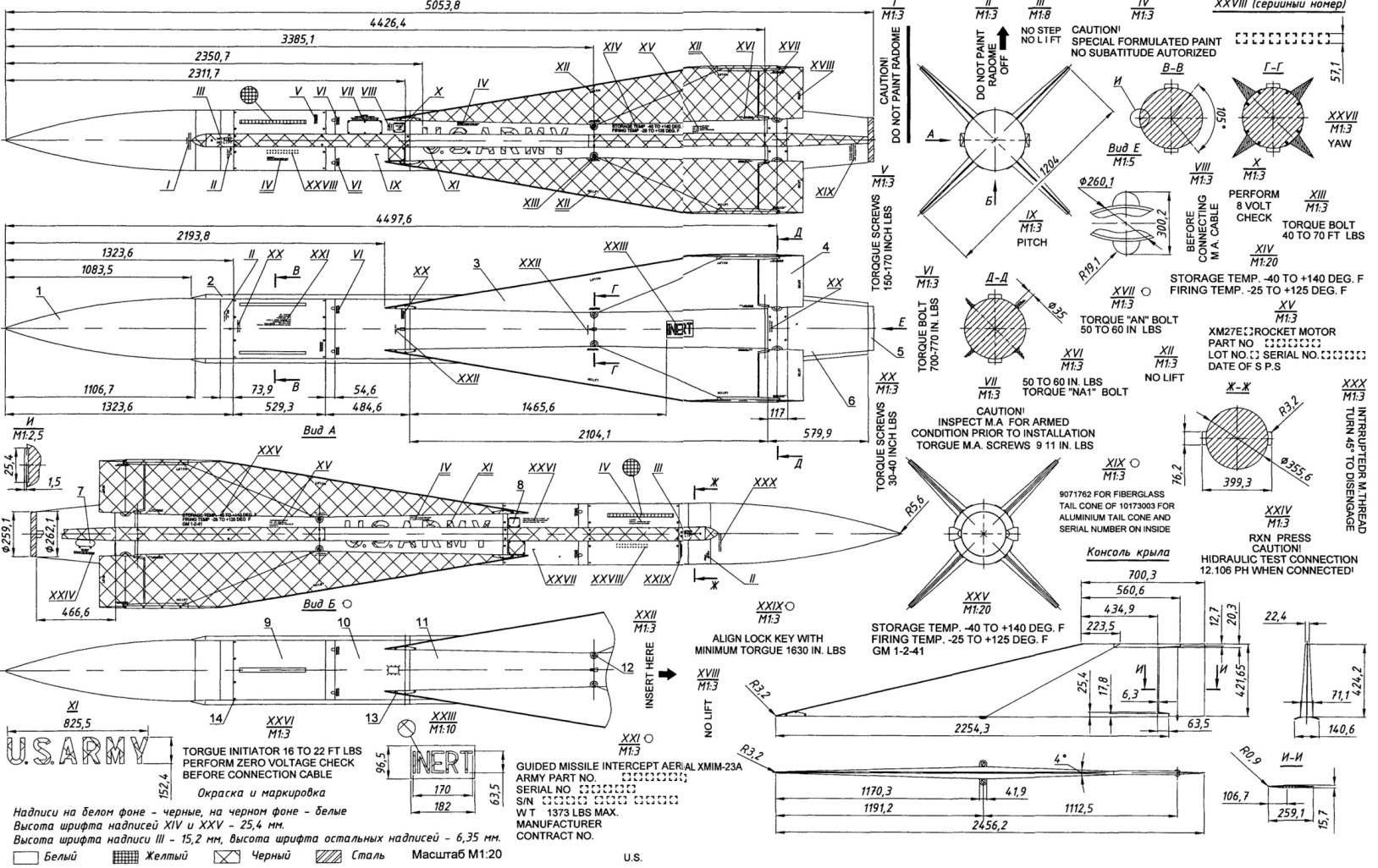 Зенитная управляемая ракета MIM-23A: