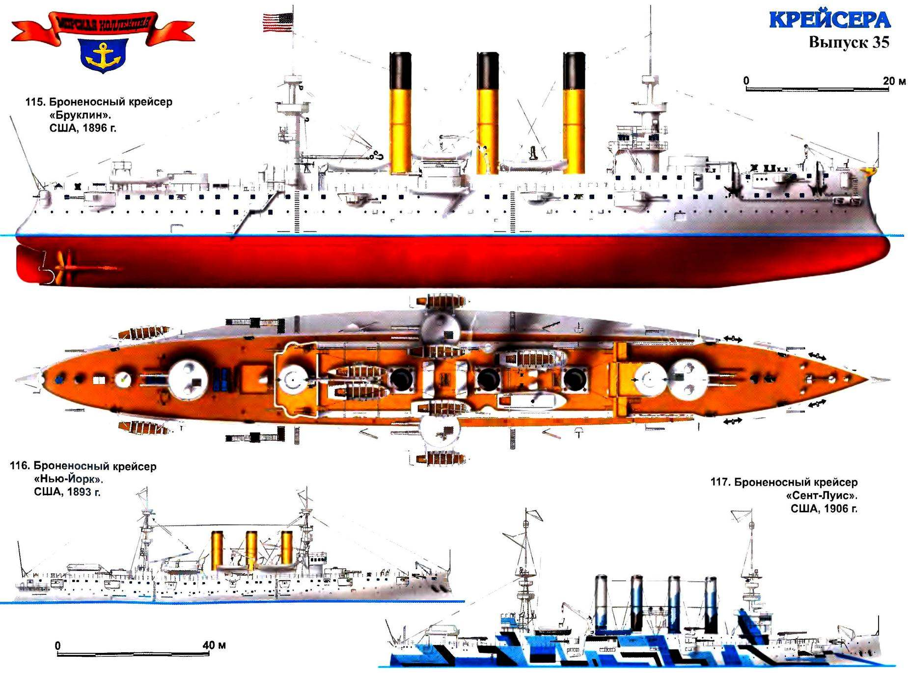 115. Броненосный крейсер «Бруклин» (США, 1896 г.)