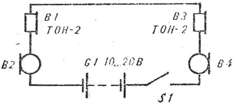 Рис. 1. Принципиальная схема телефона.