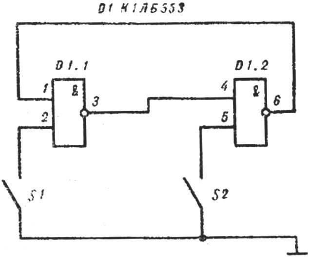 Рис. 4. Принципиальная схема индикатора