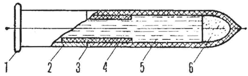 Рис. 2. Устройство патрона для подводного пистолета
