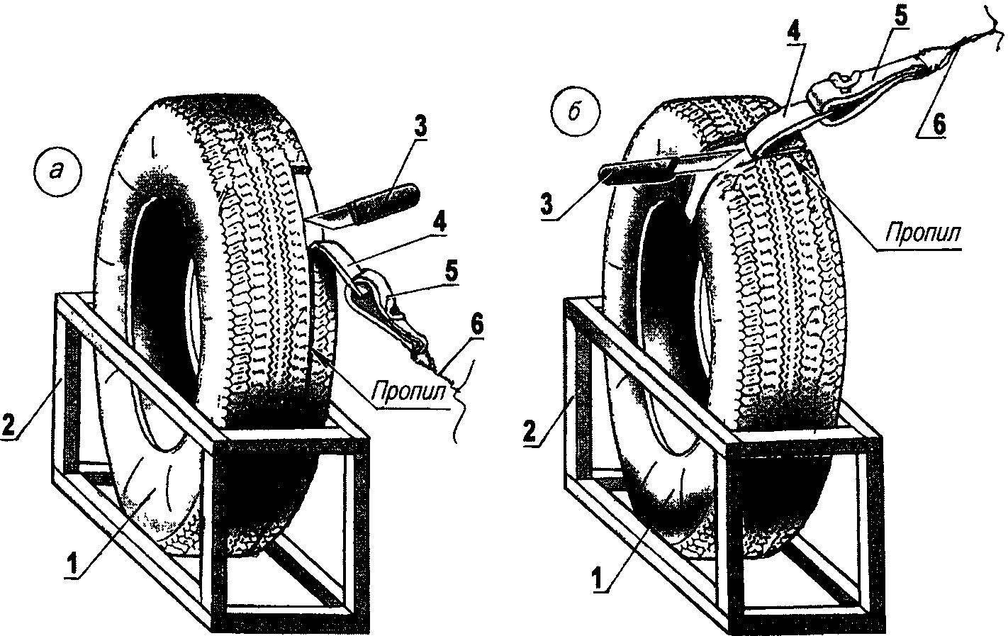 Доработка стандартной шины — снятие излишнего слоя резины