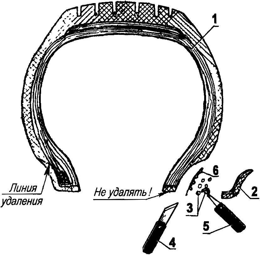 Удаление сердечника стандартной шины: