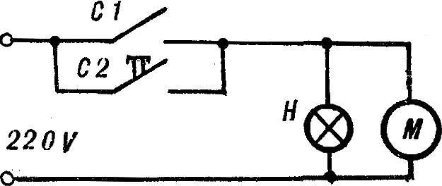 Рис. 6. Электросхема полуавтомата.