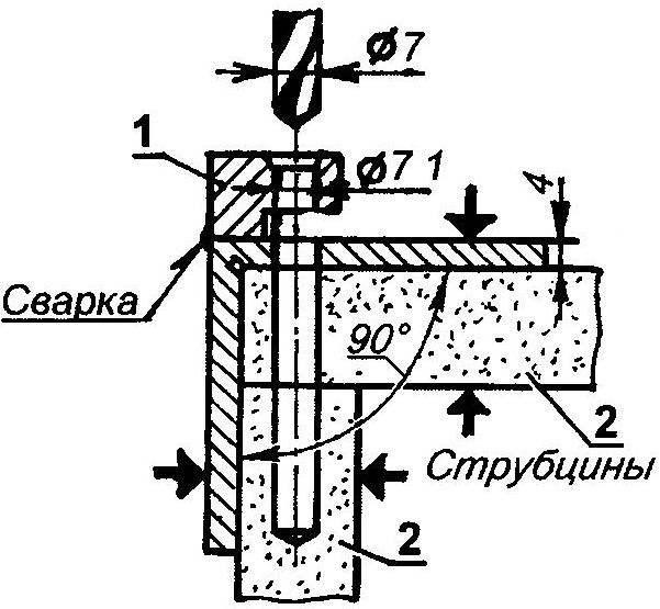 Рис. 2. Приспособление для сверления отверстий