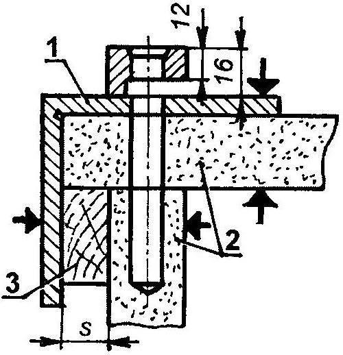 Рис. 5. Совместное сверление панелей, стыкуемых осином