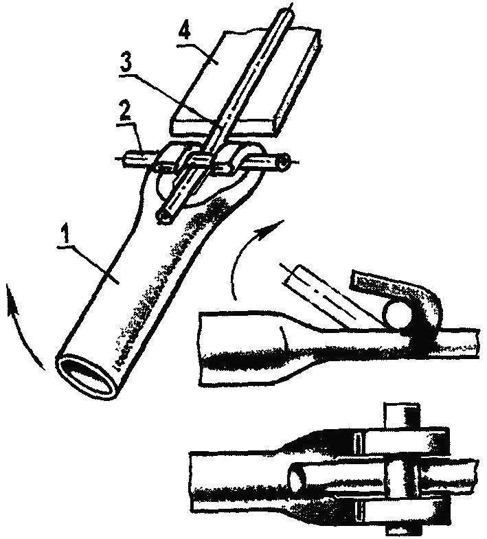 Приспособление дли гибки труб и прутков