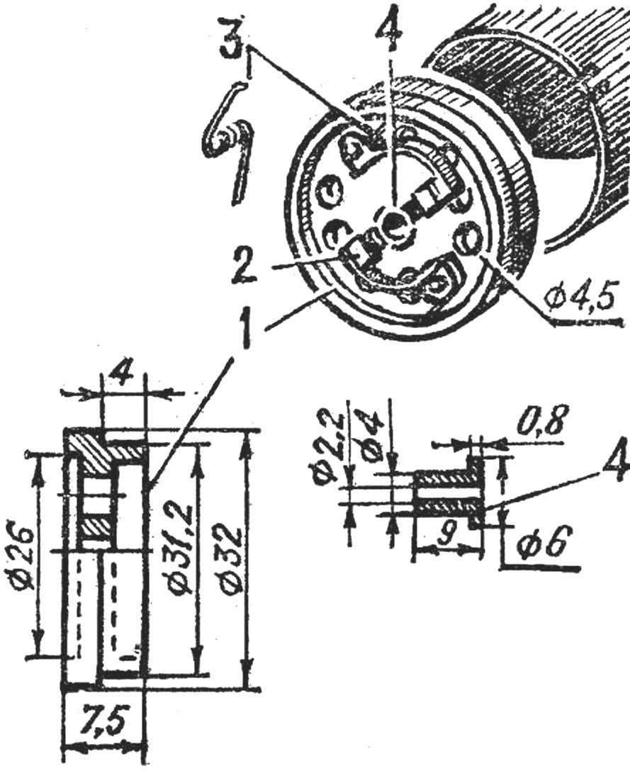 Рис. 2. Изготовление новой крышки из оргстекла и размещение щеткодержателей