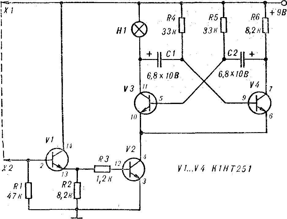Рис. 1. Принципиальная схема пробника.