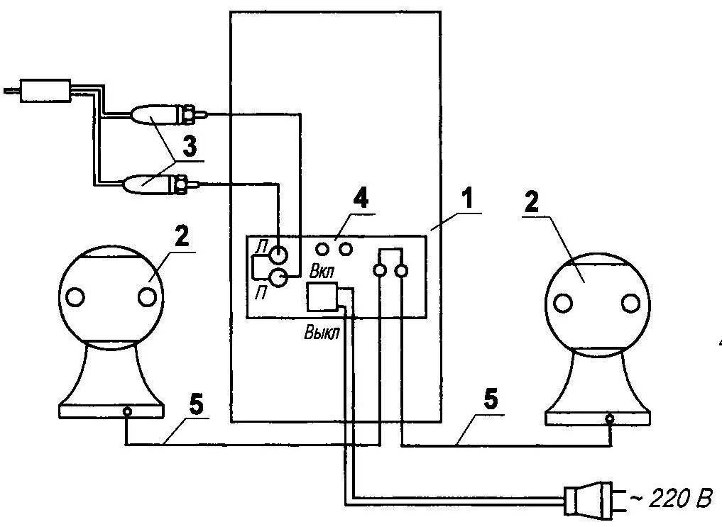 Схема активной акустической
