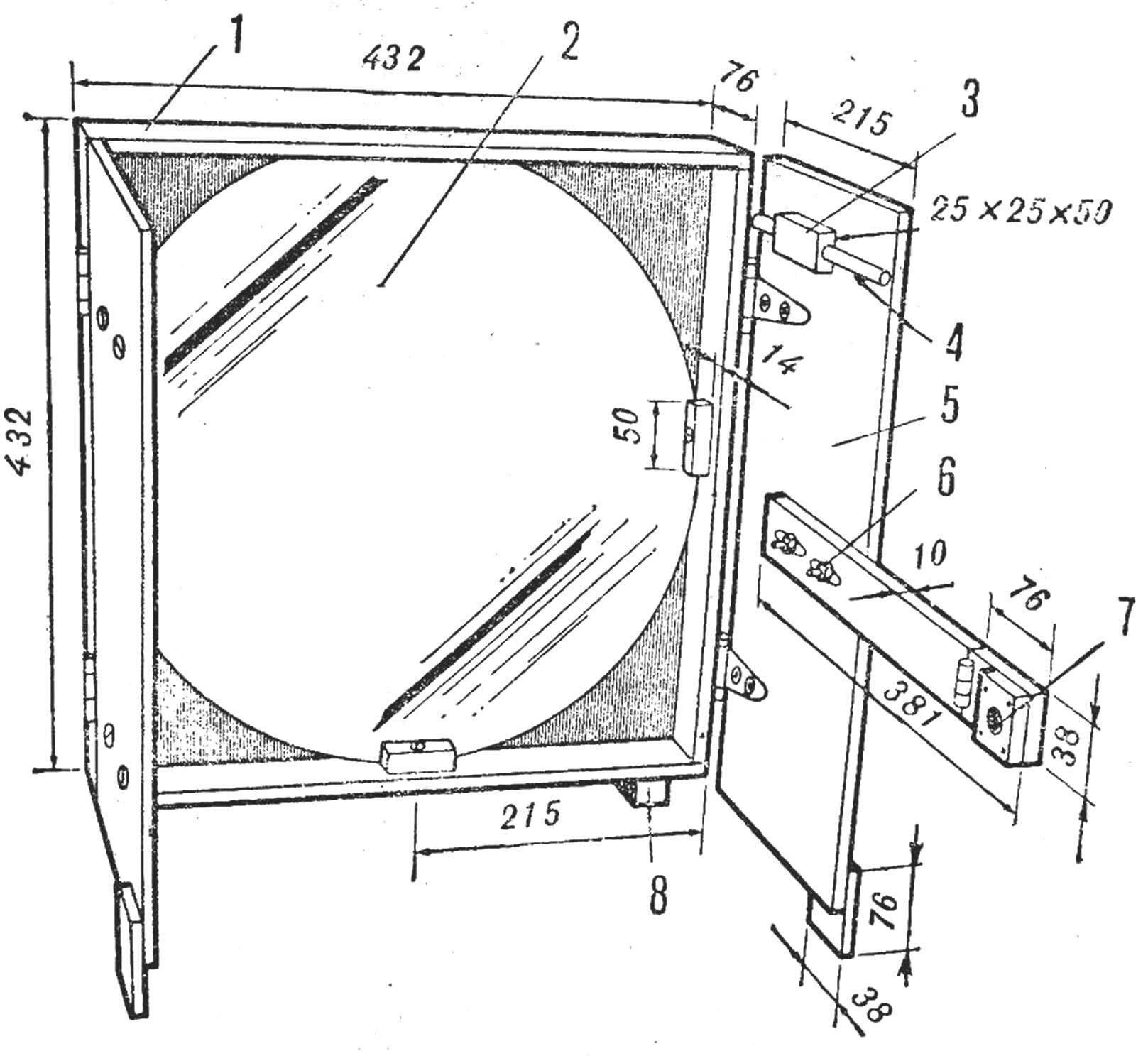 Рис. 1. Конструкция фотоприемника