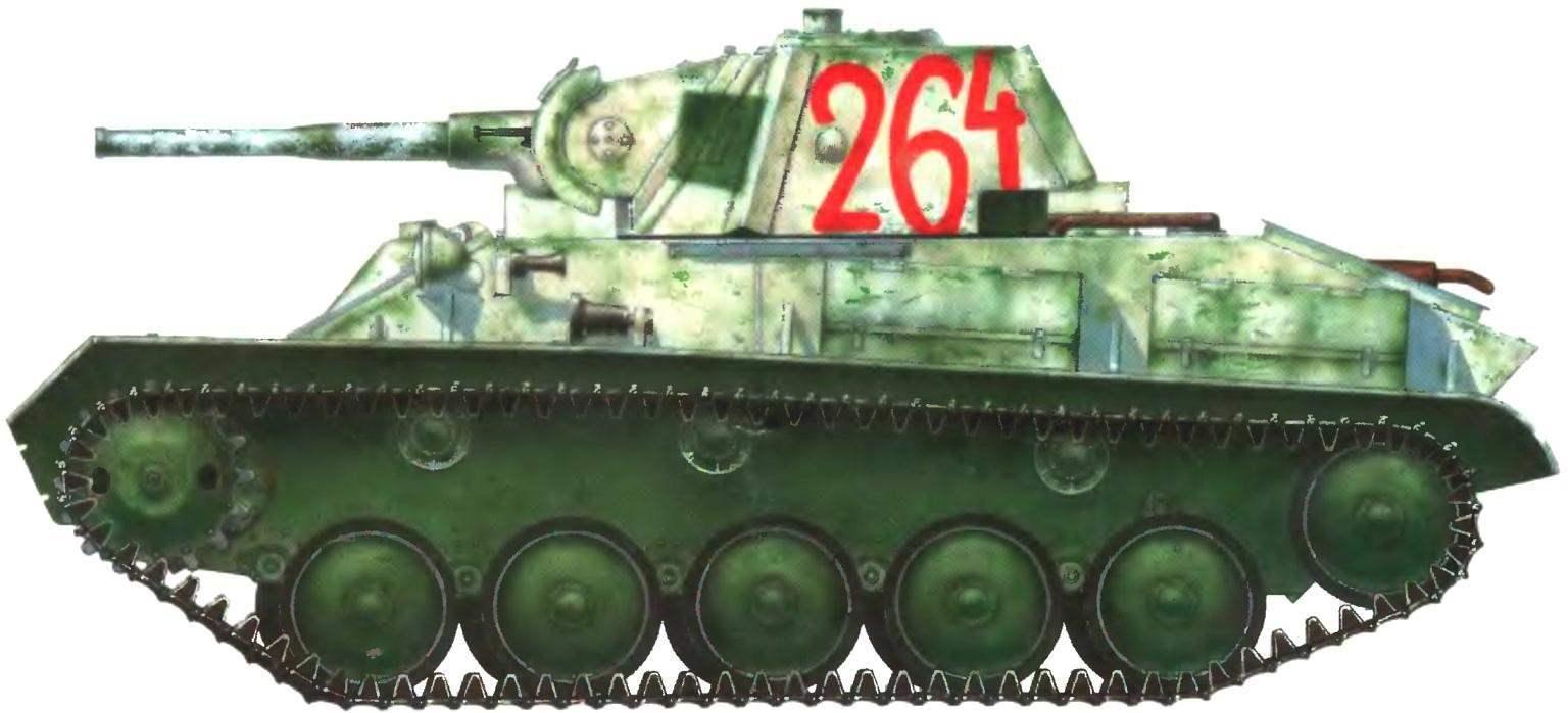 Легкий танк Т-70М. 1-й гвардейский механизированный корпус, Юго-Западный фронт, декабрь 1942 года.