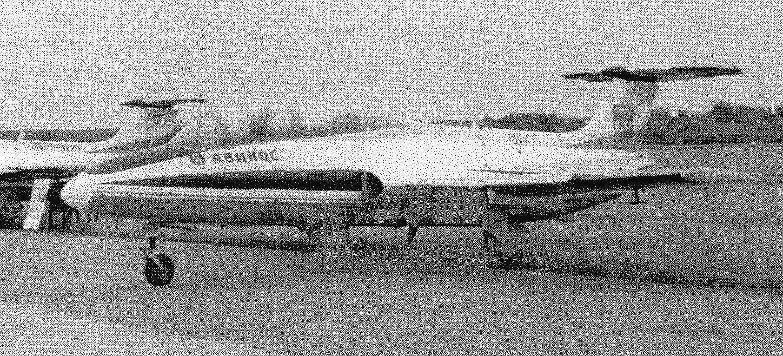Самолет L-29 пилотажной группы «Небесные рыцари». Август 2005 г.