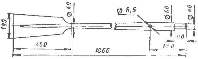 Рис. 4. Основные размеры весла.