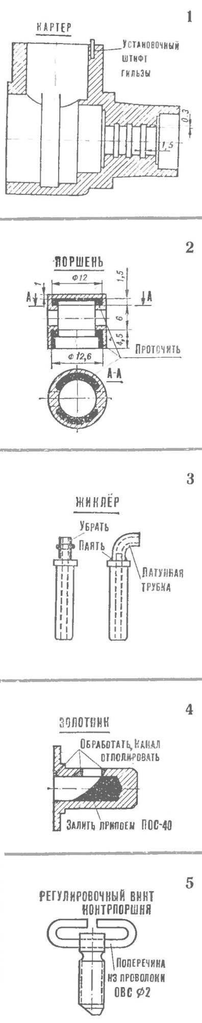 Доработка деталей двигателя