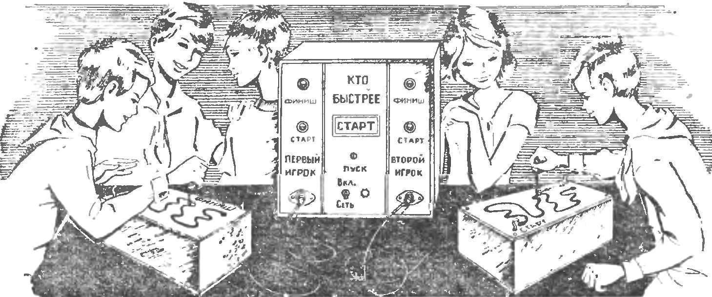 Рис. 2. Панель управления и сигнализации и пульты игроков.