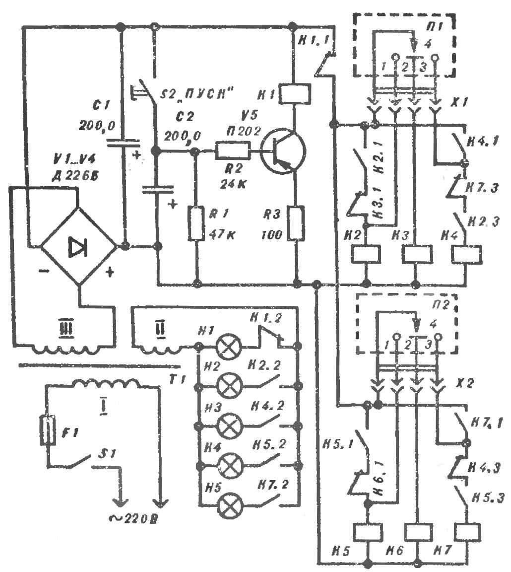 Рис. 3. Принципиальная схема игрового автомата.
