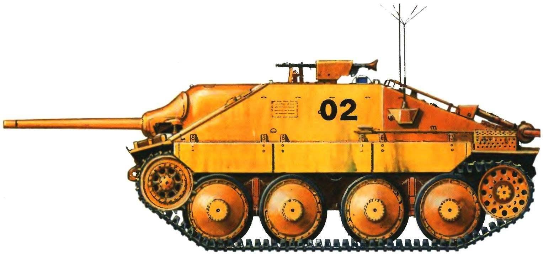 Командирский вариант истребителя танков «Хетцер». 741-й противотанковый батальон. Восточный фронт, 1944 год
