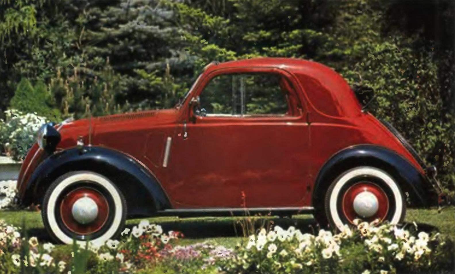 Компактный автомобиль FIAT-500 Topolino