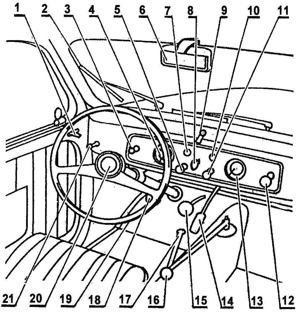 Передняя часть салона FIAT-500C Topolino