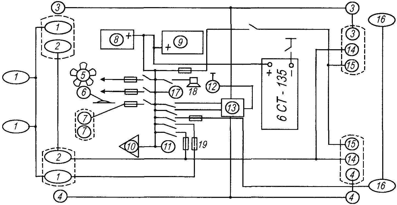 Схема электрооборудования трактора