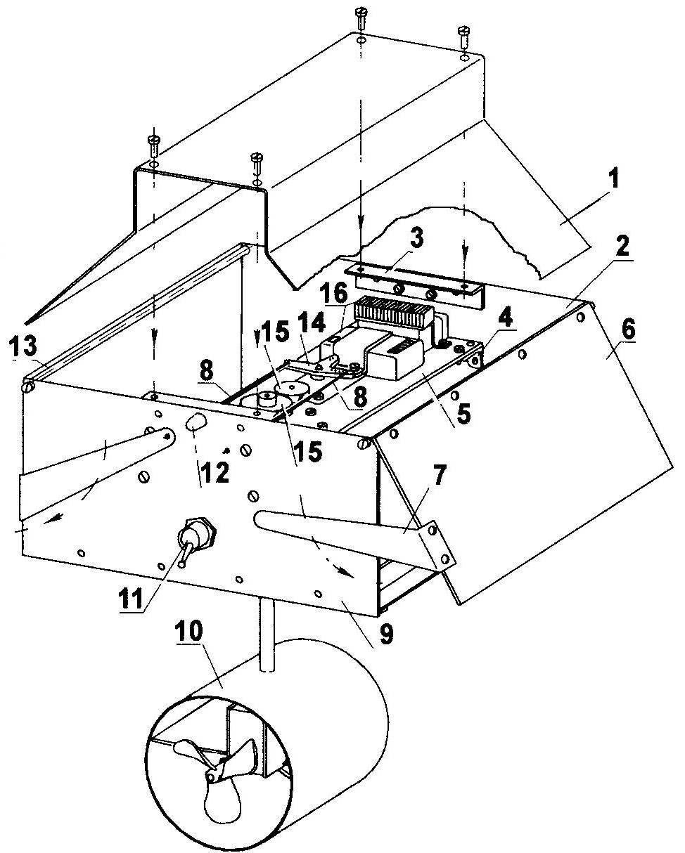 Компоновка исполнительных механизмов
