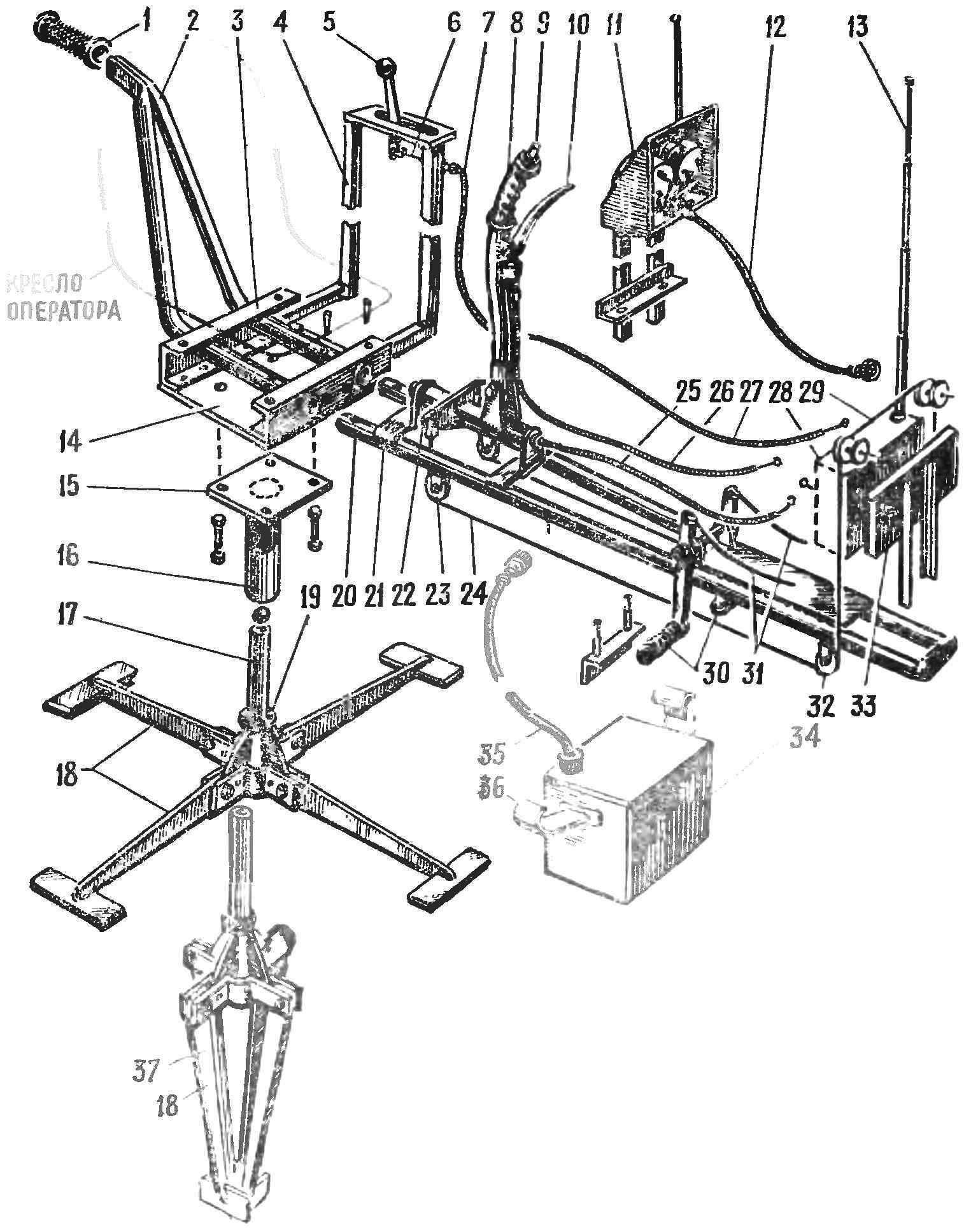 Fig. 1. The overall layout of the chairs with a predominant use of metal parts