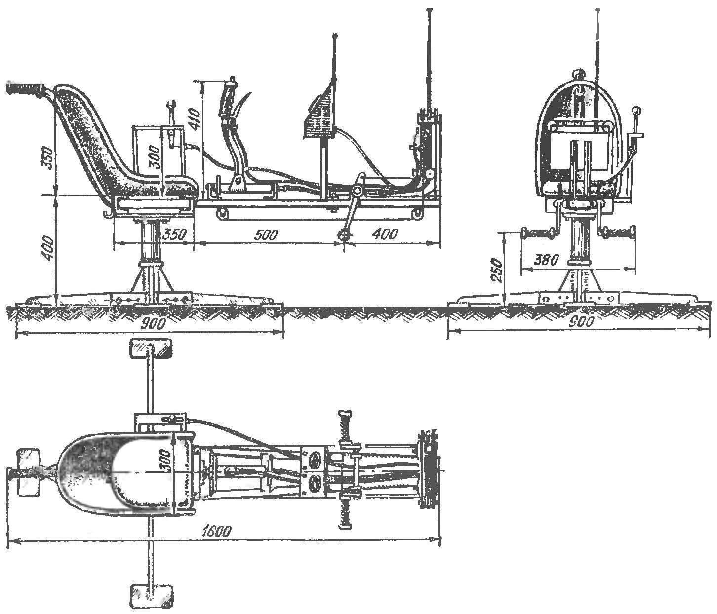 Fig. 2. Overall layout of the chair.