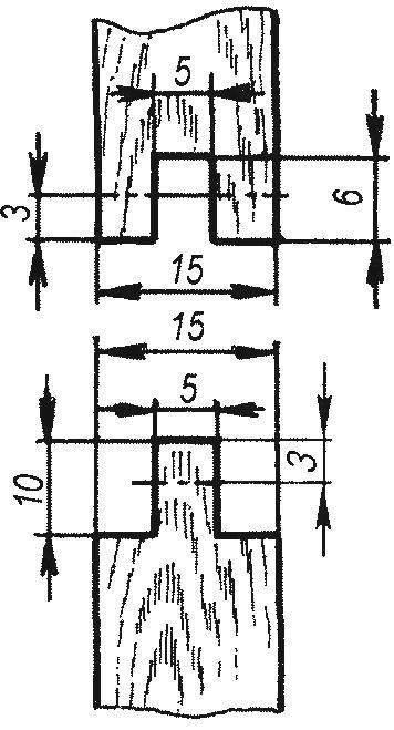 Рис. 3. Схема шарнирною соединения элементов фигурки клоуна