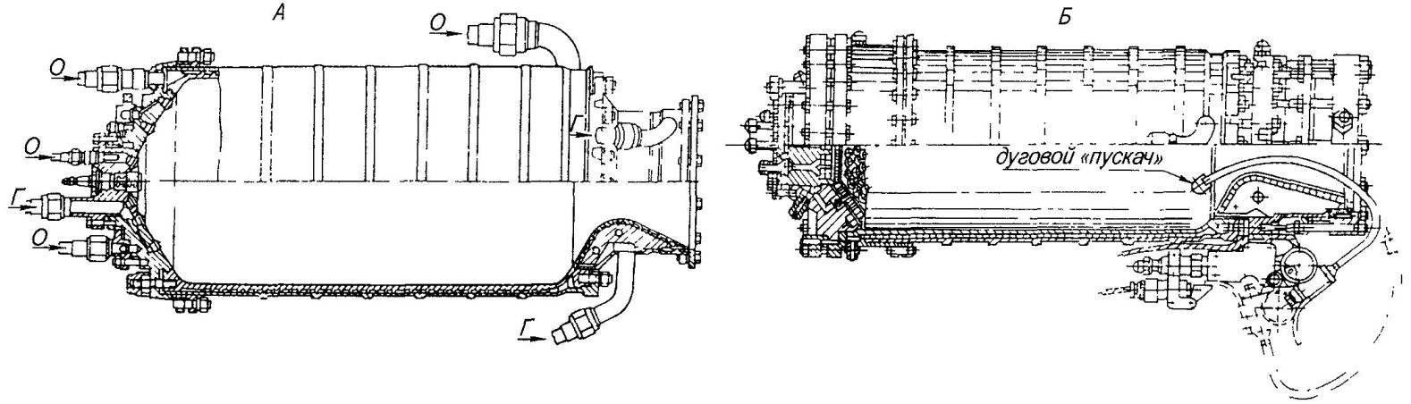 Ракетные двигатели самолета БИ-1 тягой 1100 кгс