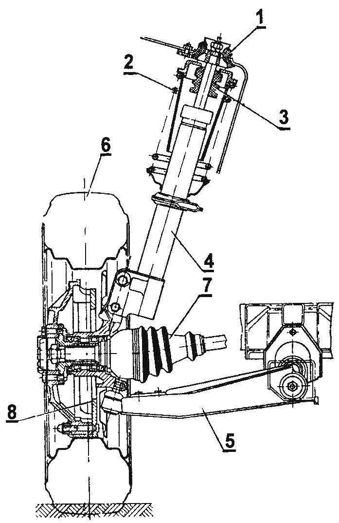 Передняя подвеска автомобиля Таврия типа McPherson