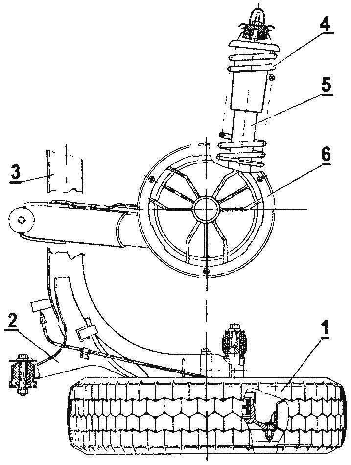 Задняя подвеска автомобиля ЗАЗ-1102 Таврия