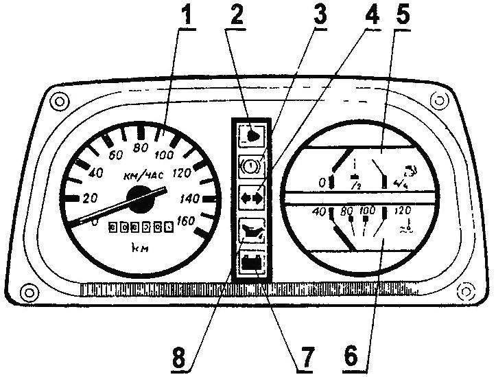 Комбинация приборов автомобиля Таврия