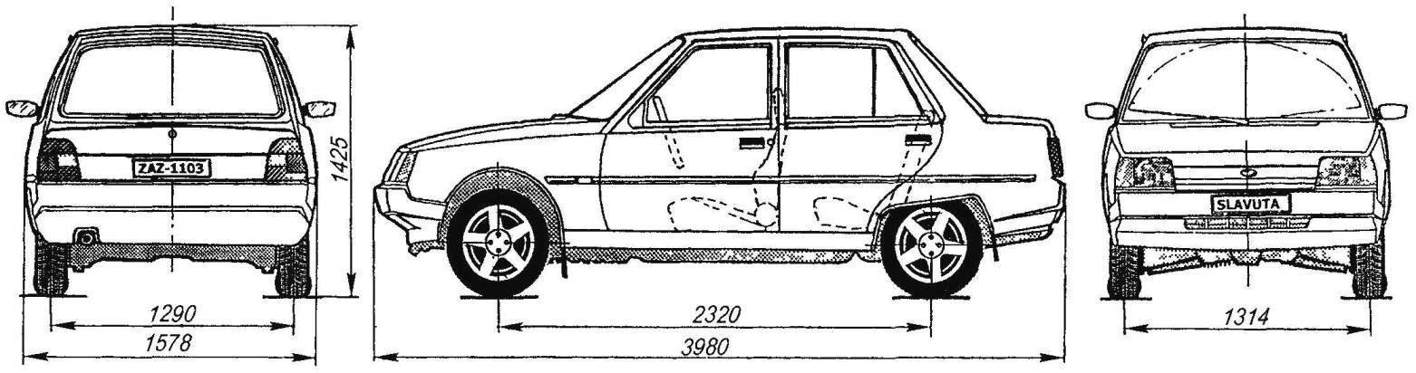 Схема автомобиля ЗАЗ-1103 «Славута»