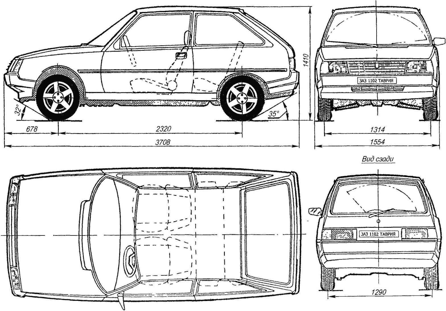 Схема автомобили ЗАЗ-1102 «Таврия»