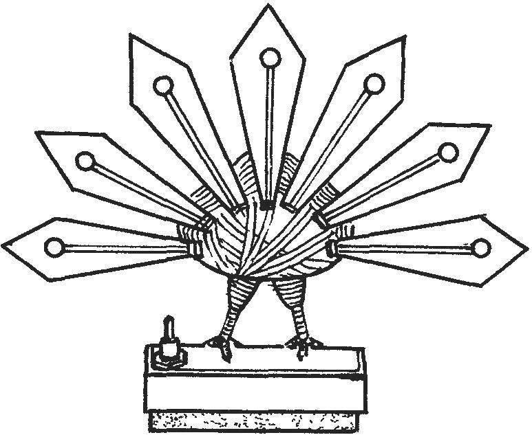 Вид сувенира «Жар-птица» сзади