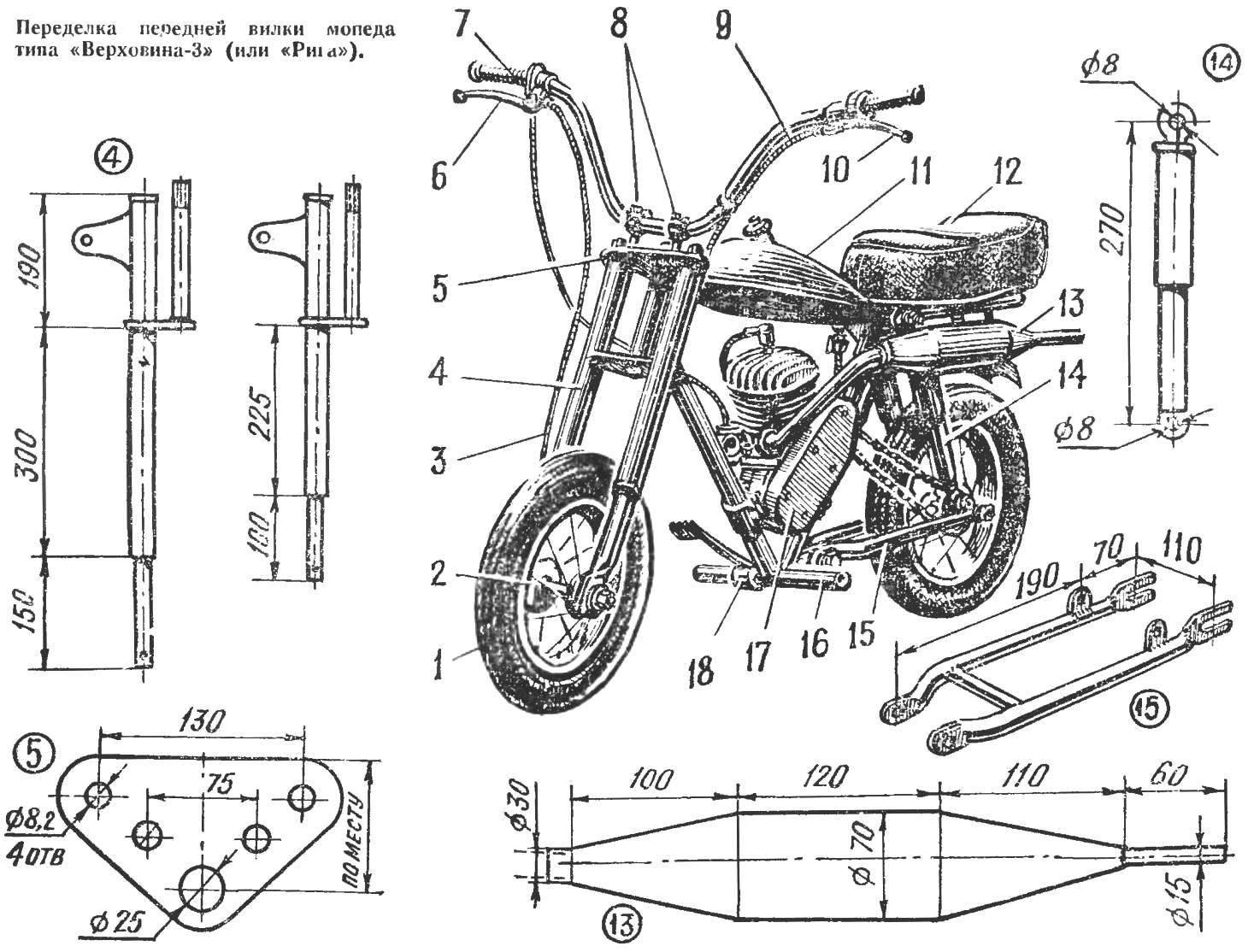 Микромотоцикл «Метеор-кросс»