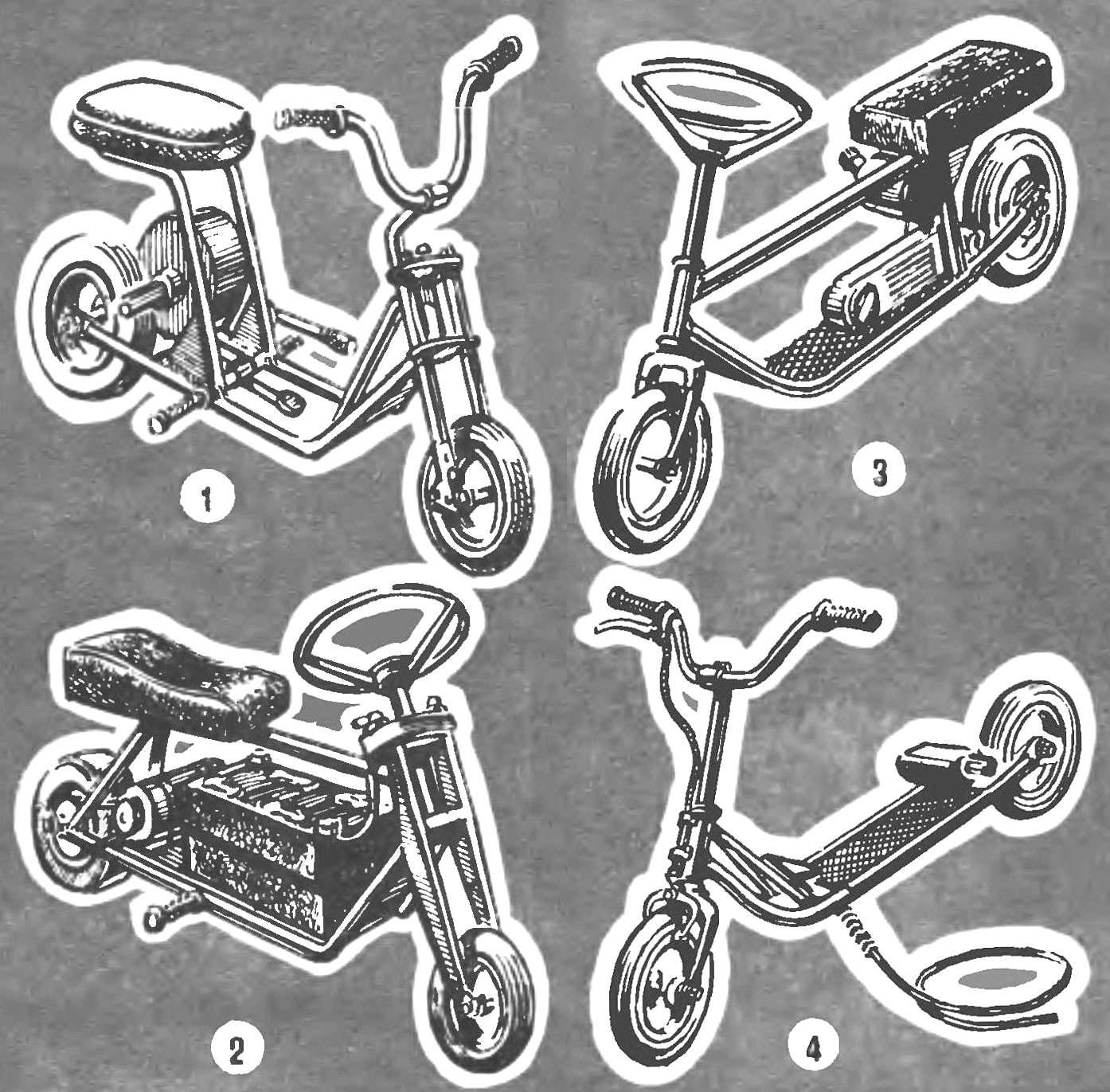 Не менее интересные микромотороплеры и микромотоциклы, построенные нашими читателями