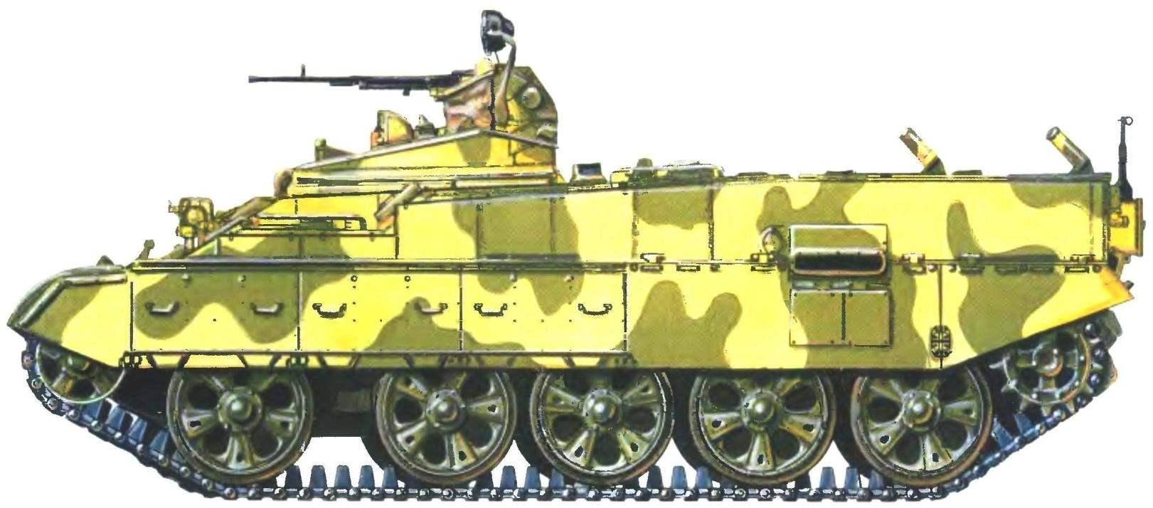 Вариант окраски опытного образца бронетранспортера БТР-Т