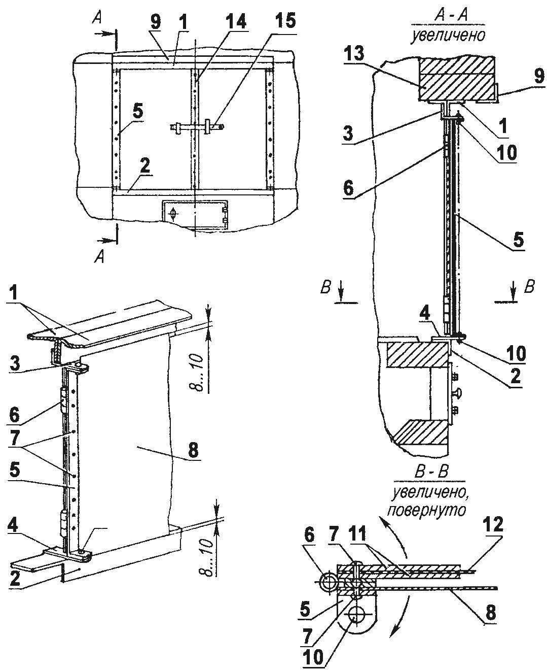 Рис. 6. Установка дверок варочной камеры