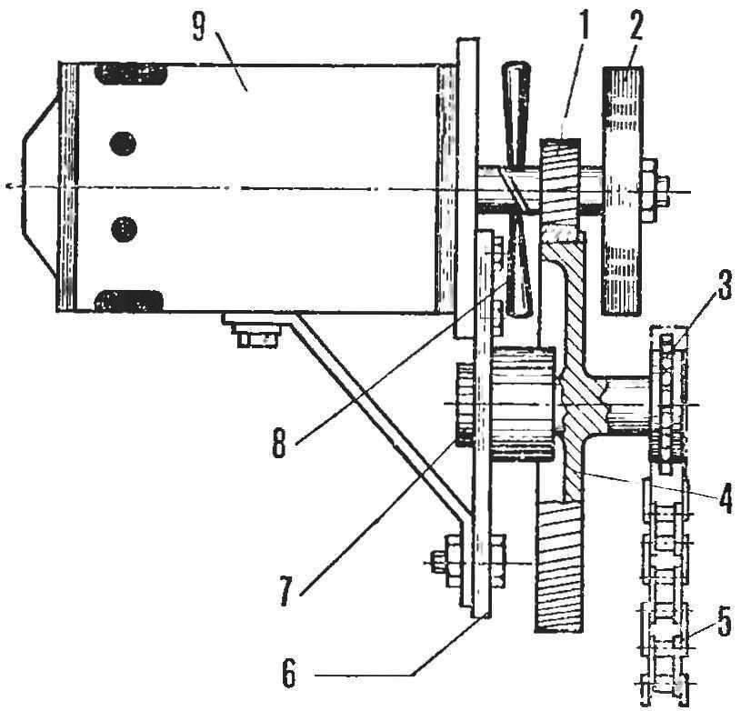 Рис. 3. Силовой блок электромобиля