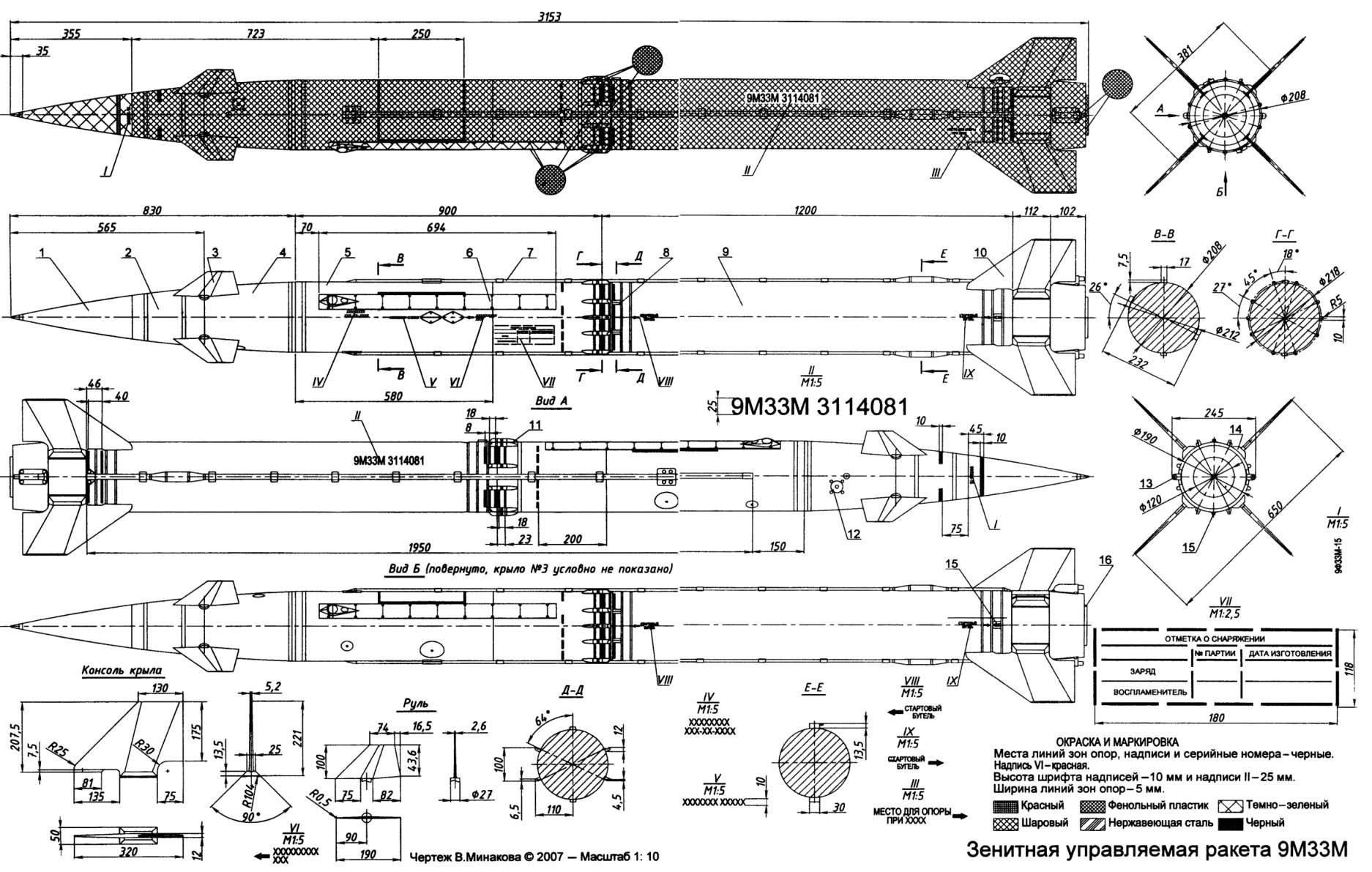 Зенитная управляемая ракета 9М33М