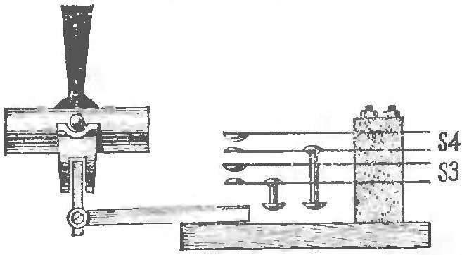 Рис. 5. Контактная система «электронного хоккея».