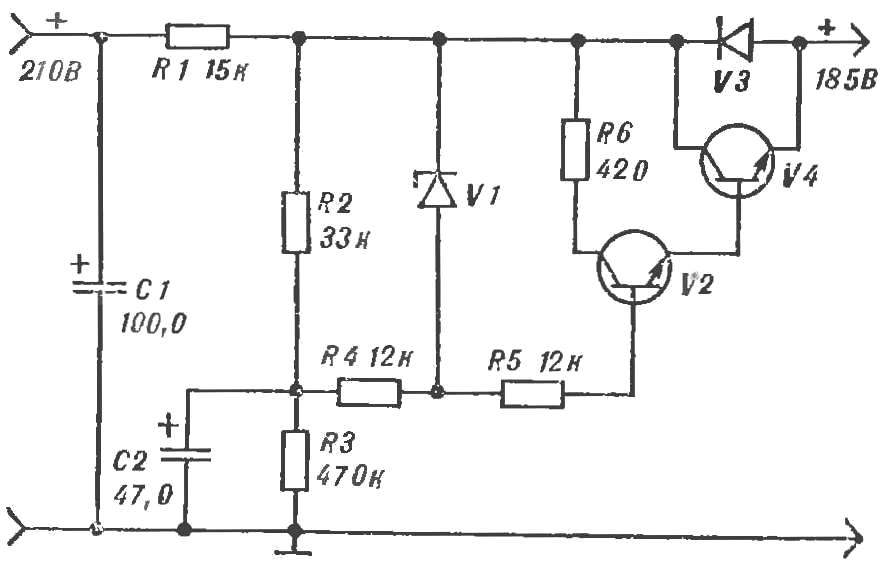 Схема активного фильтра