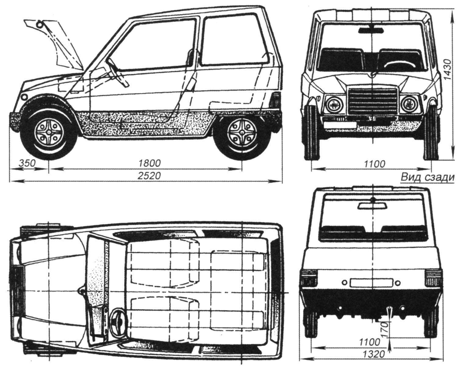 Микролитражный городской автомобиль типа «2+2» «Яуза»