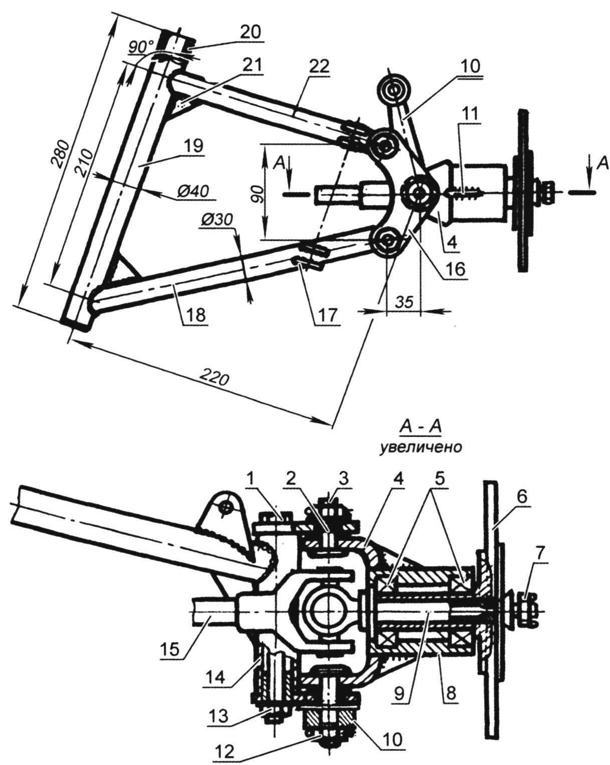 Suspension front wheel