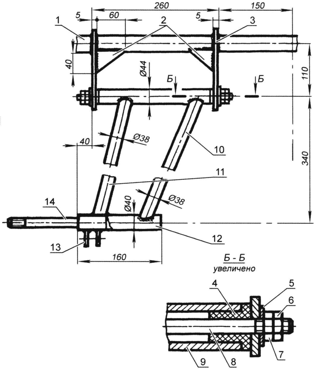 Rear suspension of the car