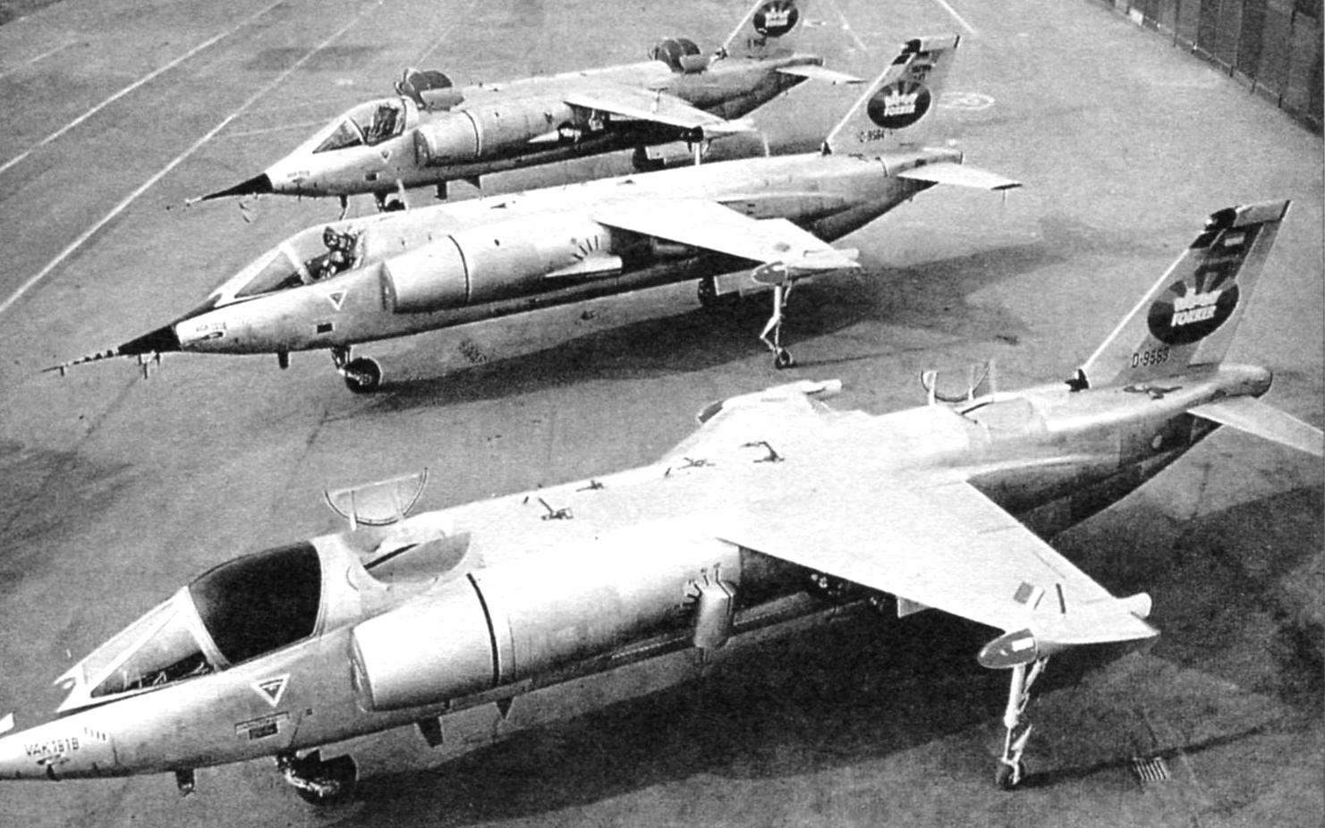Три опытных образца VAK 191В