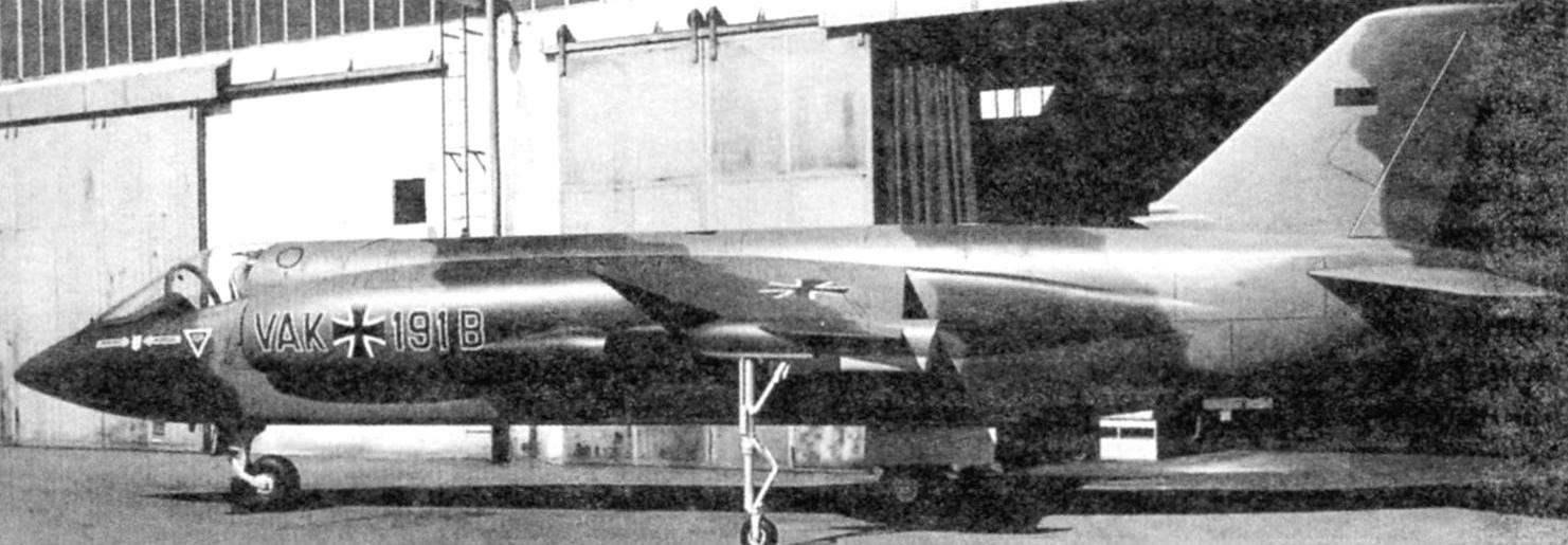 Полномасштабный макет самолёта VAK 191В