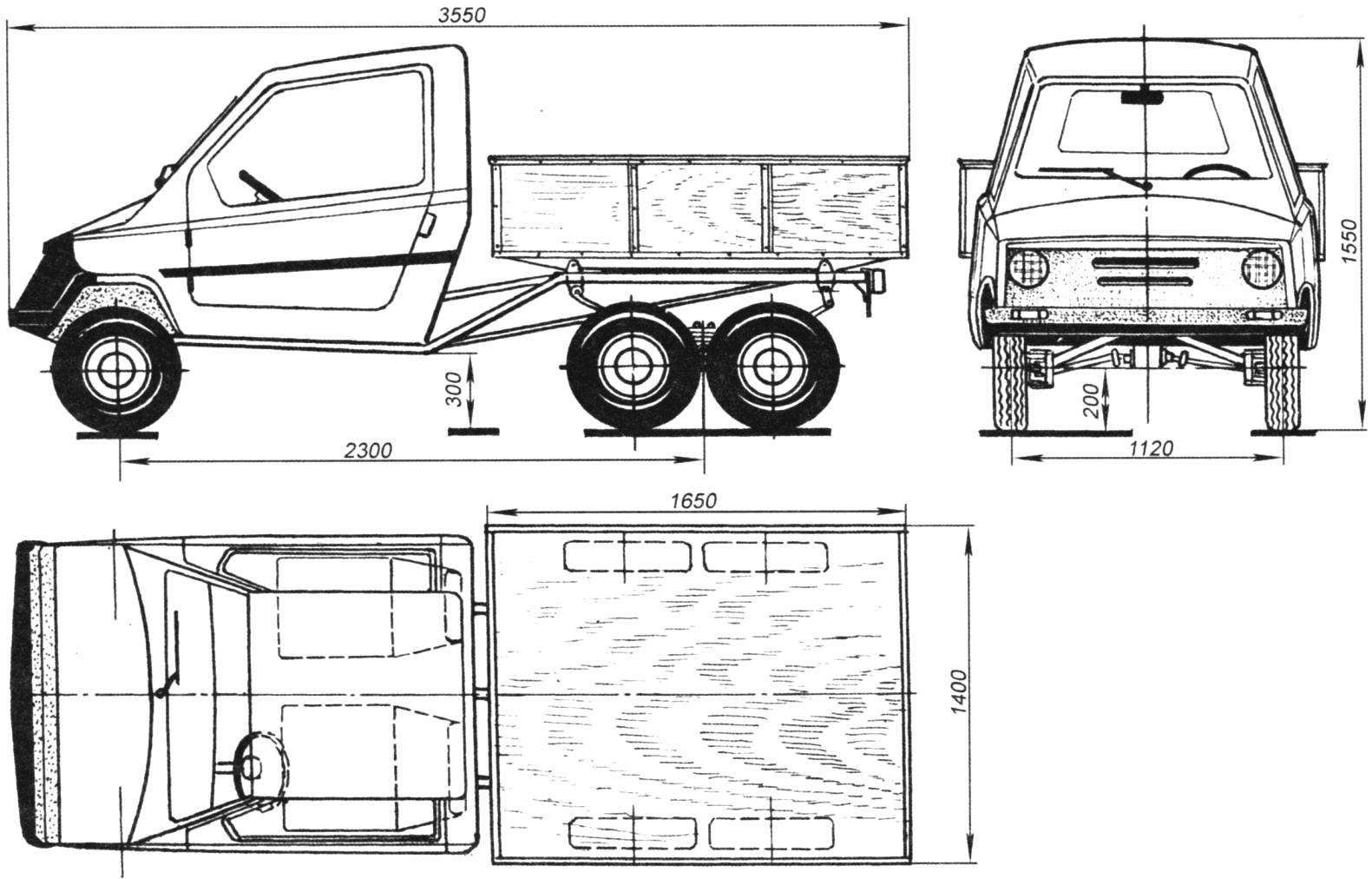Мотогрузовичок «Ослик»